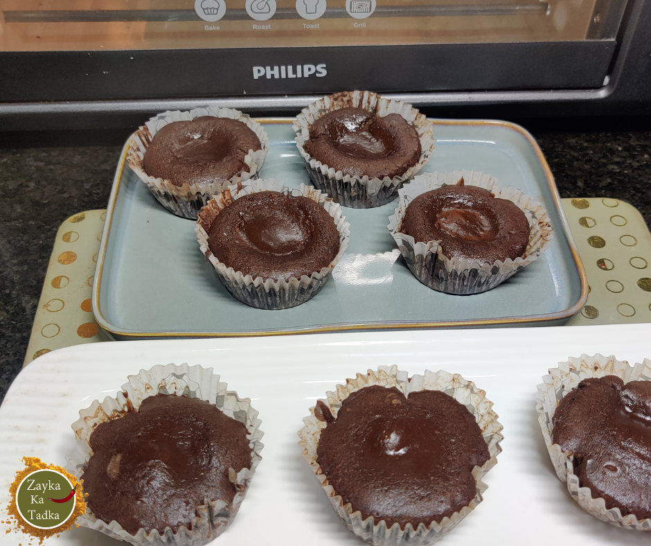 Choco Lava Cake | Chocolate Filled Cupcakes Recipe