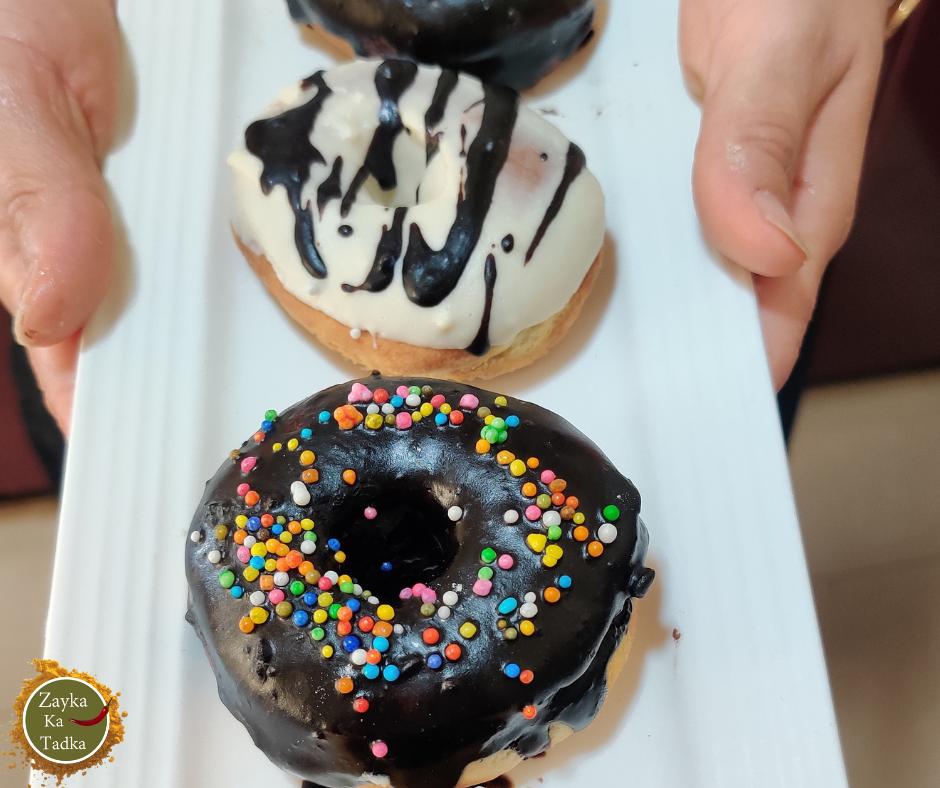 Eggless Chocolate Doughnut In Air Fryer Recipe