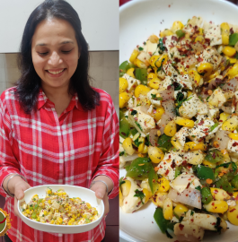 Paneer Corn Chaat Recipe