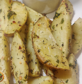 Potato Wedges | Baked Potato Wedges Recipe