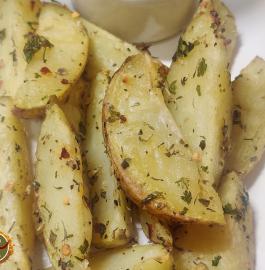 Potato Wedges | Baked Potato Wedges Recipe