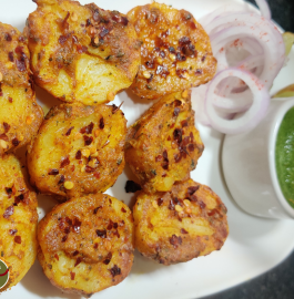 Tandoori Aloo In OTG Recipe