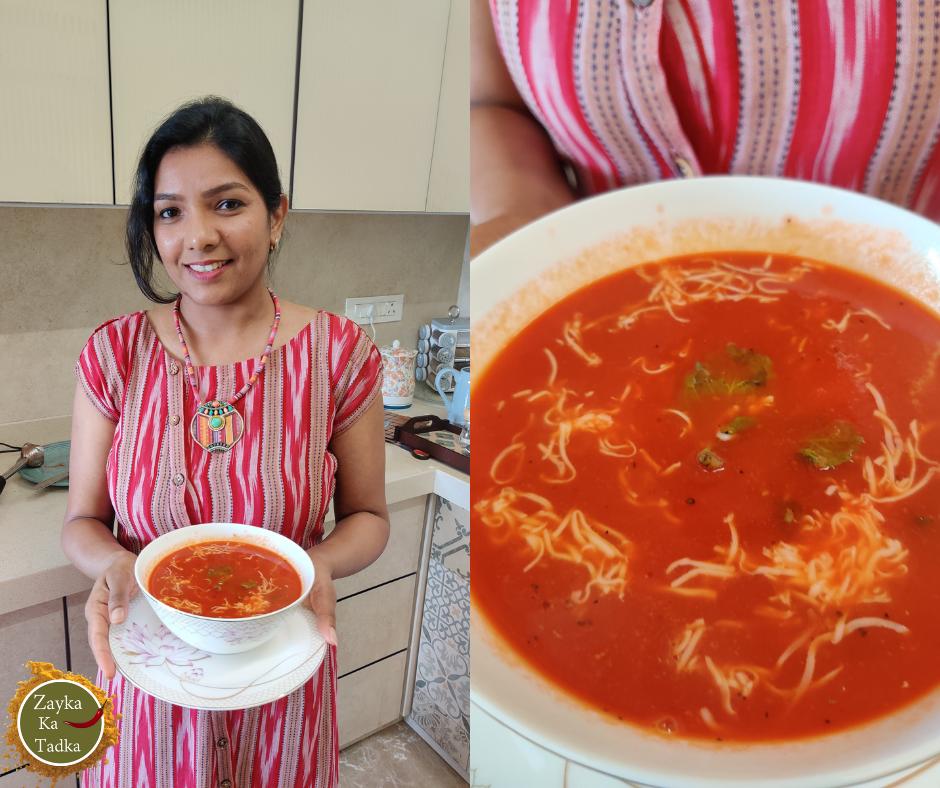 Tomato Soup | Cheesy Tomato Soup Recipe