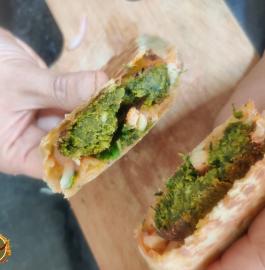 Hara Bhara Kabab Frankie Recipe