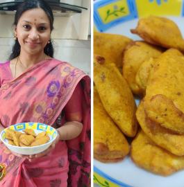Raw Banana Bajji | Vazhakkai Bajji Recipe
