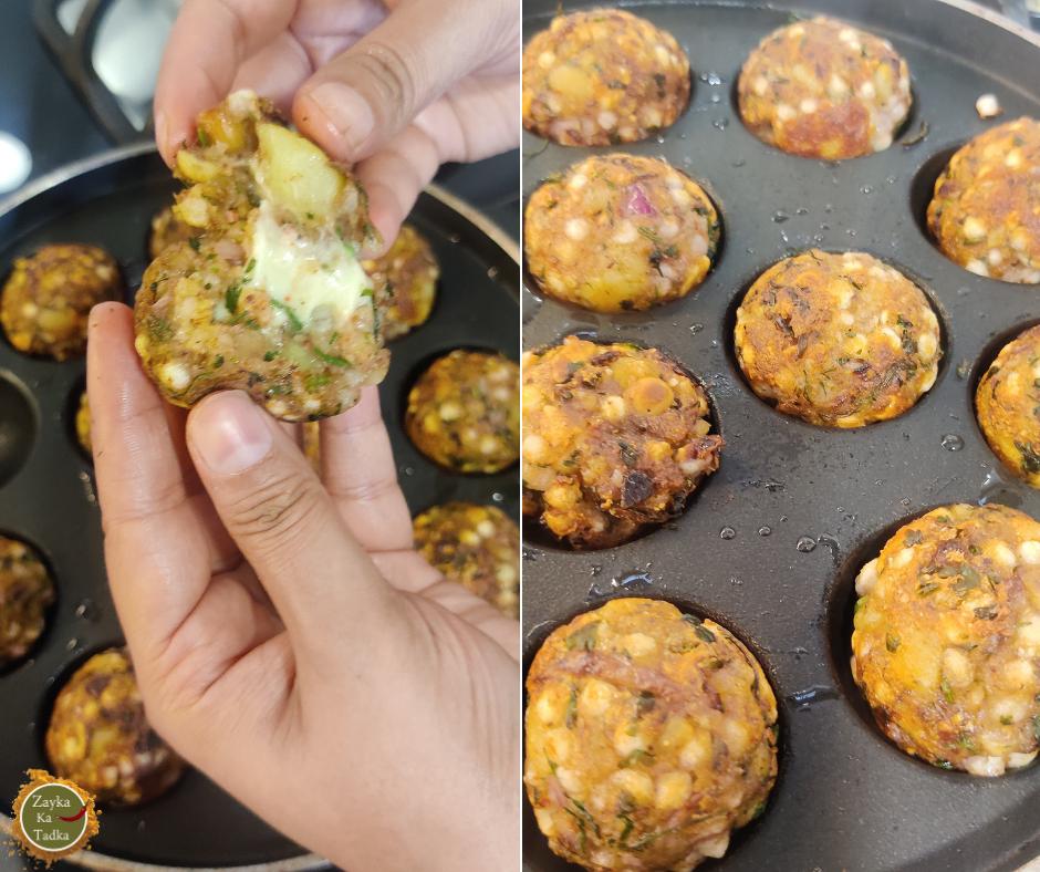 Cheesy Sabudana Vada without frying Recipe