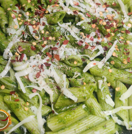 Spinach Garlic Pasta   Green Sauce Pasta Recipe
