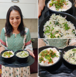 Ghee Rice   Clarified Butter with raita Recipe