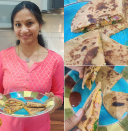 Pocket Paratha | Pizza McPuff in Indian Style Recipe