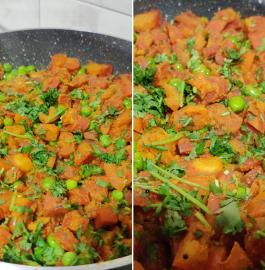 Gajar Matar Sabji | Carrot Peas Sabji Recipe