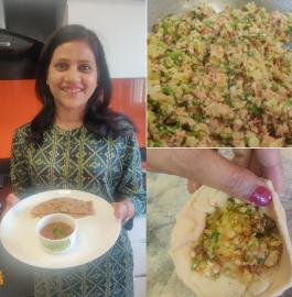 Momos Paratha | Veg Momos Paratha Recipe