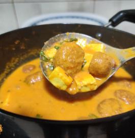 Gatte Paneer Ki Sabji Recipe