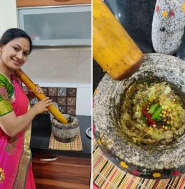 Brinjal Chutney | Vankaya Pachadi Recipe