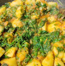 Aloo Palak Sabji | Potato Spinach Sabji Recipe
