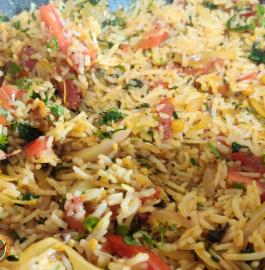 Tomato Onion Rice Recipe