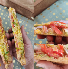 Masala Oats Sandwich Recipe