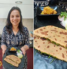 Dhaniya Paratha | Coriander Paratha Recipe