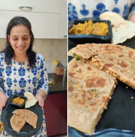 Papad Paratha Recipe