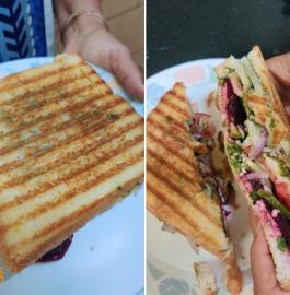 Three Layered Mumbai Special Veg Sandwich Recipe