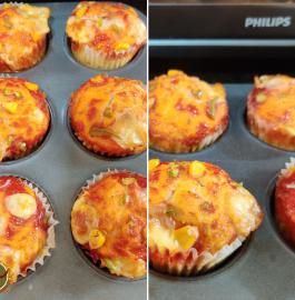 Pizza Muffin | Veg Pizza Muffin Recipe
