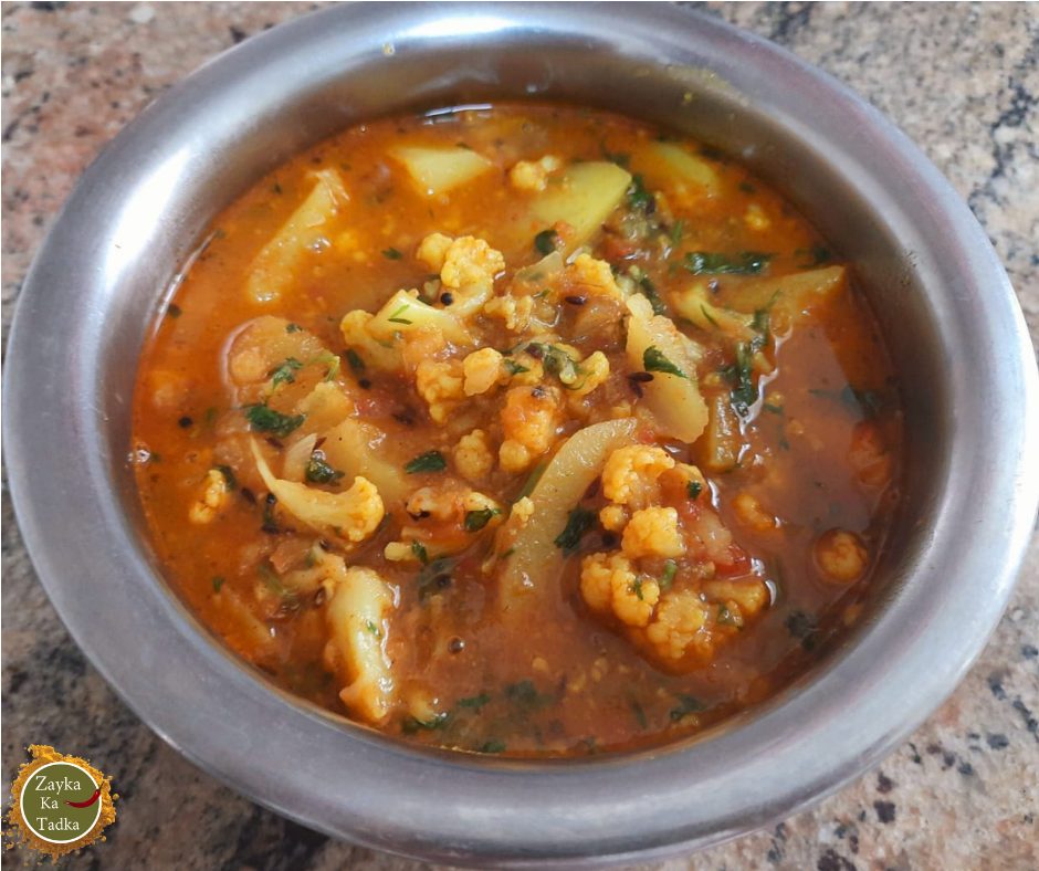 Gobhi Aloo Curry | Cauliflower Potato Curry Recipe