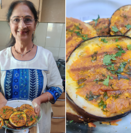 Grilled Baingan | Grilled Brinjal Recipe