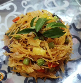 Veg Vermicelli Upma | Vegetable Vermicelli Upma Recipe