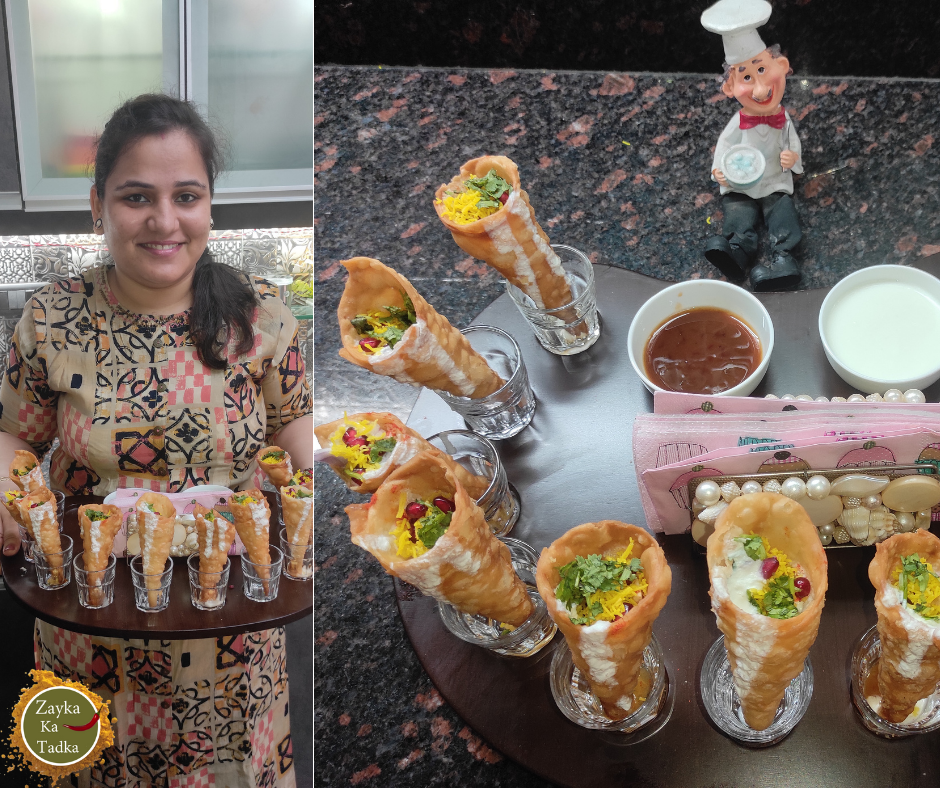 Cone Chaat Recipe