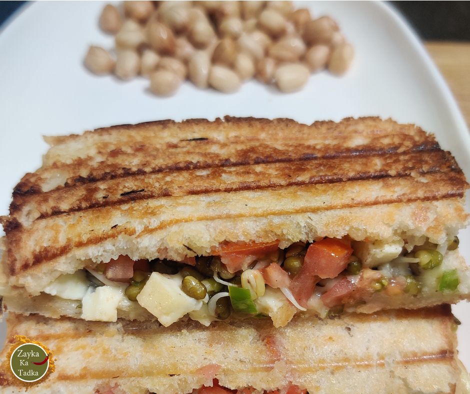 Paneer Sprouts Sandwich Recipe