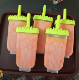 Watermelon Milk Popsicles Recipe