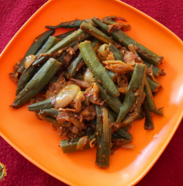 Bharwan Bhindi Without Stuffing Recipe