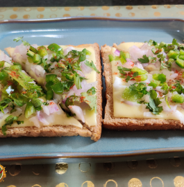 Open Cheese Sandwich Recipe