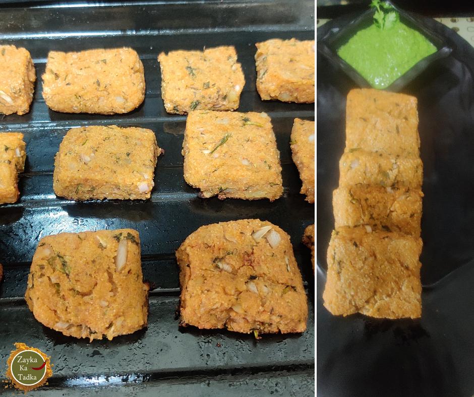 Aloo Suji Squares   Baked Potato Squares Recipe
