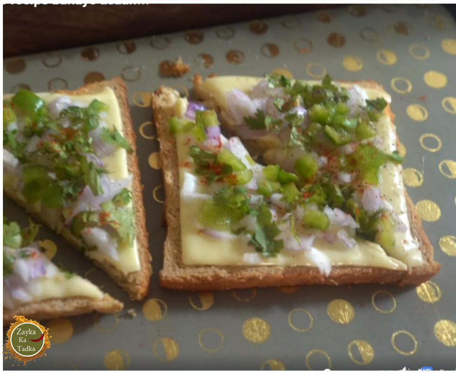 Open Cheese Sandwich Recipe
