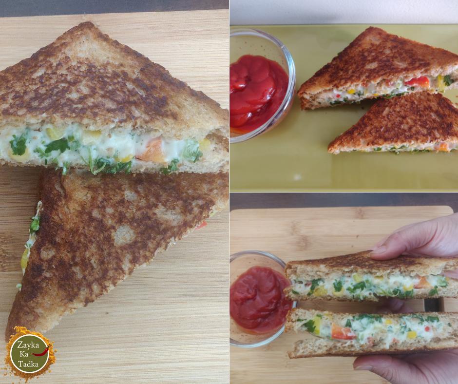 Corn Mayonnaise Sandwich Recipe