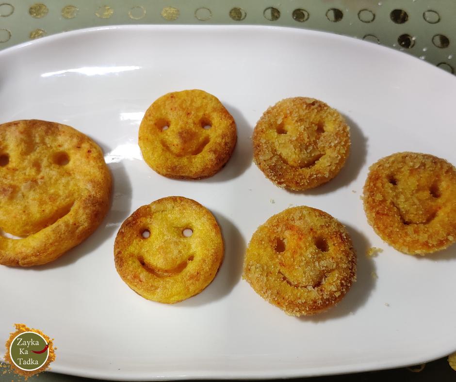 Potato Smiley | Baked Potato Smiley Recipe