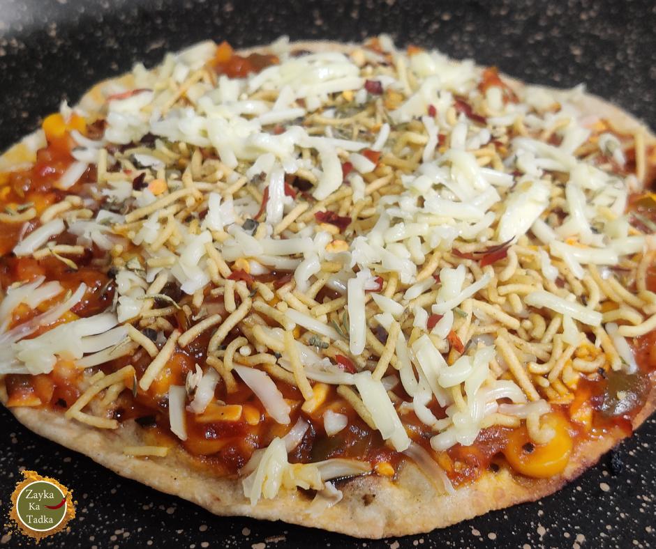 Leftover Roti Pizza Recipe