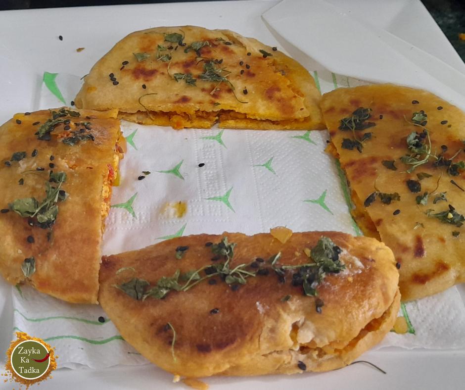 Paneer Kulcha   Paneer Stuffed Kulcha Recipe
