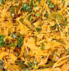 Cabbage Capsicum Sabji Recipe