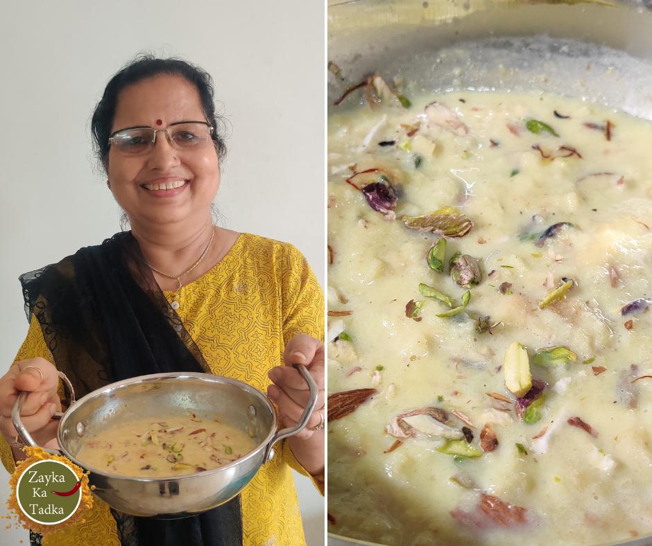 Instant Rabri   Danedar Rabdi Recipe