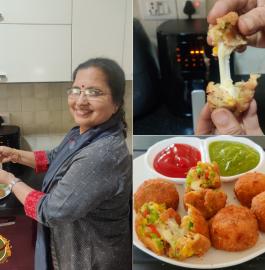 Cheesy Potato Balls - Without Frying Recipe