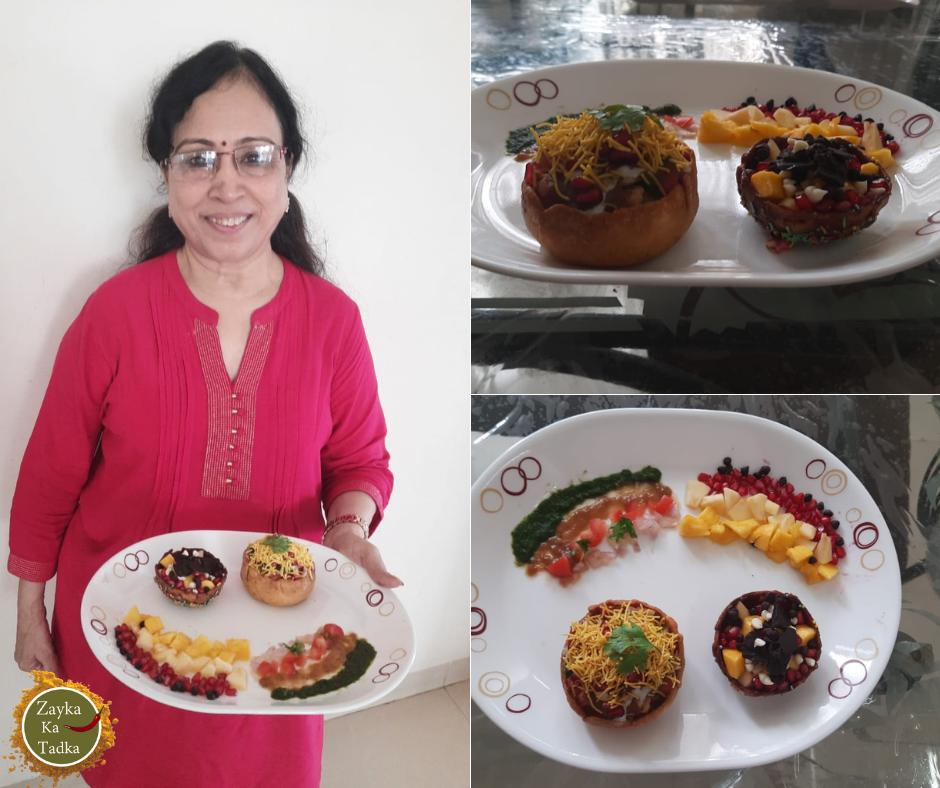 Katori Chaat & Chocolate Katori Fruit Chaat Recipe