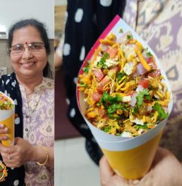 Namkeen Papad Chaat | Chumur Chaat Recipe