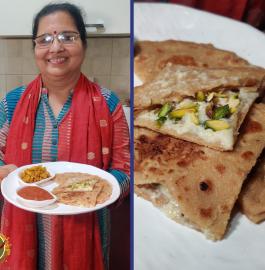 Malai Cheeni Paratha Recipe