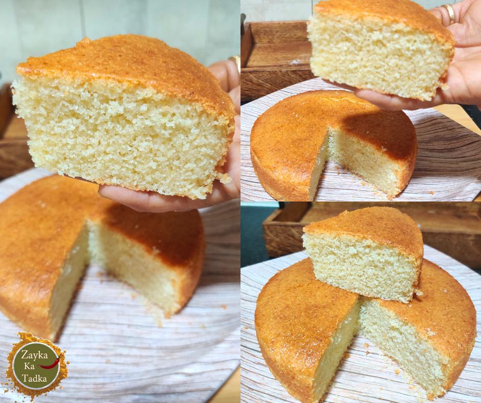 Suji Cake | Eggless Sooji Cake Recipe