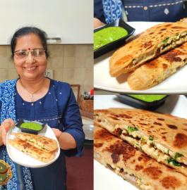 Paneer Cheese Stuffed Paratha Recipe
