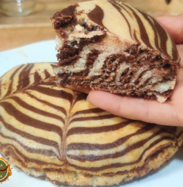 Zebra Cake | Eggless Zebra Cake Recipe
