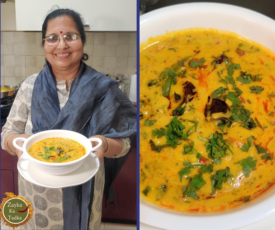 Shimla Mirch Kadhi Recipe
