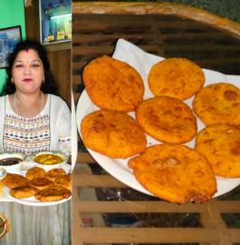 Paneer Dal Stuffed Bedai Recipe