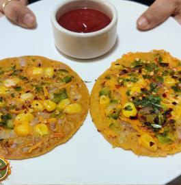 Besan Vegetable Uttapam Recipe